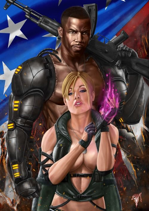Kombat Time!!!!!!!!Major Jackson Briggs and Lieutenant Sonya Blade together are is and always will be the Special Forces!I hope you guys like the fact that I made Jaxx look like Michael Jai white and used a reference photo of Kayden Kross for Sonya's face! Another one where I could have used the Nekropolis for help. That gun was extremely hard for me to paint!PS Sonya's vest is bullet proof… dont ask me how?Done in Photoshop CS2 with wacom tablet!MK Legacy Gallery [link]