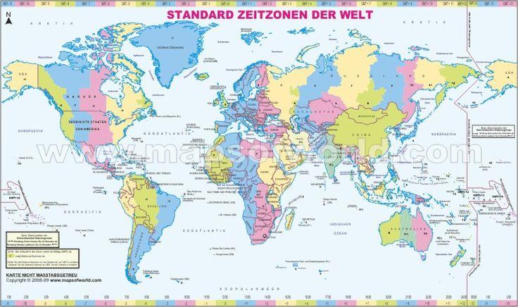 Welt-Zeitzonen Karte