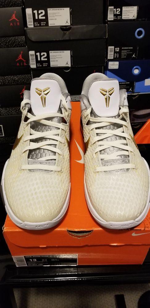 817451f706024 RARE🔥 Nike Zoom Kobe VII 7 System Elite White Shark Gold - Sz 13 511371-100