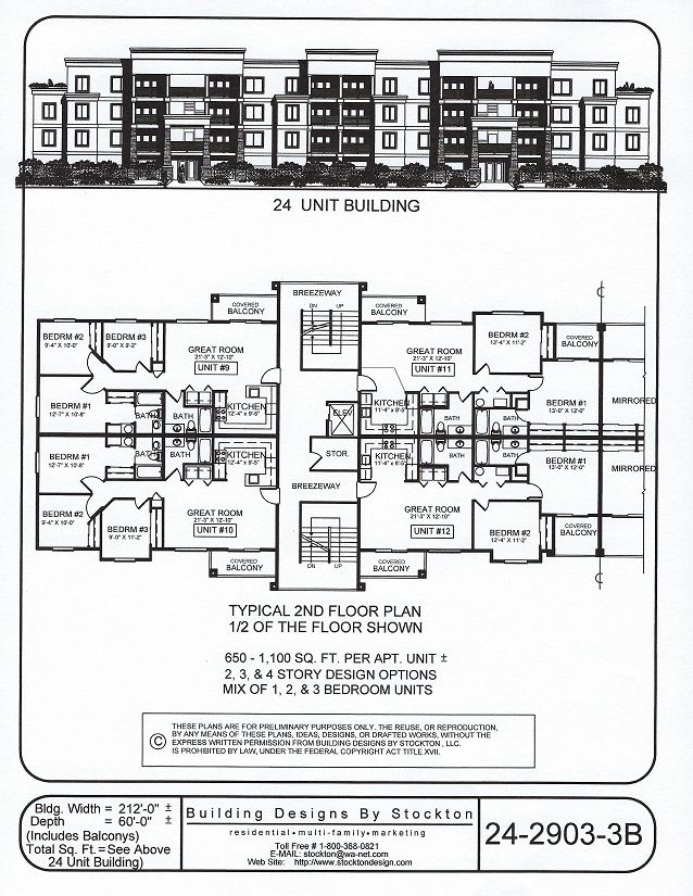Building Designs By Stockton Plan 24 2903 3b How To Plan Town House Floor Plan Architectural Floor Plans