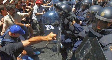 Scontri a Madrid: termina in un bagno di sangue la marcia per la dignità - The Nest