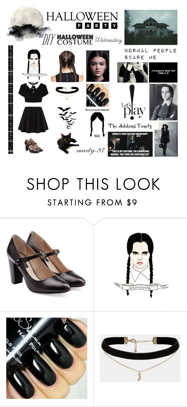 Halloween Party: Wednesday! by marty-97 on Polyvore featuring moda, Polo Ralph Lauren, Marc Jacobs, ASOS and Retrò