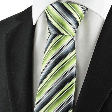 Mens Stylish Green Classic Necktie