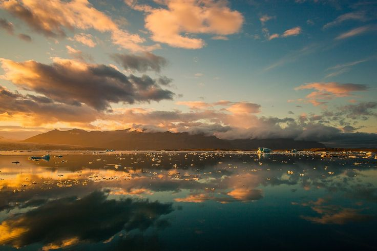 lago, mar, montañas, nubes, reflejos, hielo, 1708211734