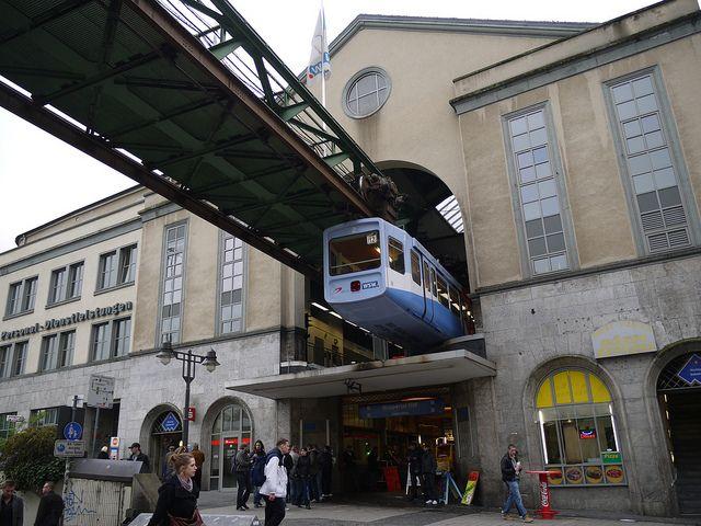 Wuppertal Schwebebahn Suspension Railway, Germany.