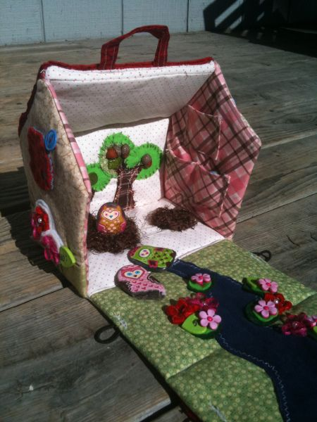 fabric doll house