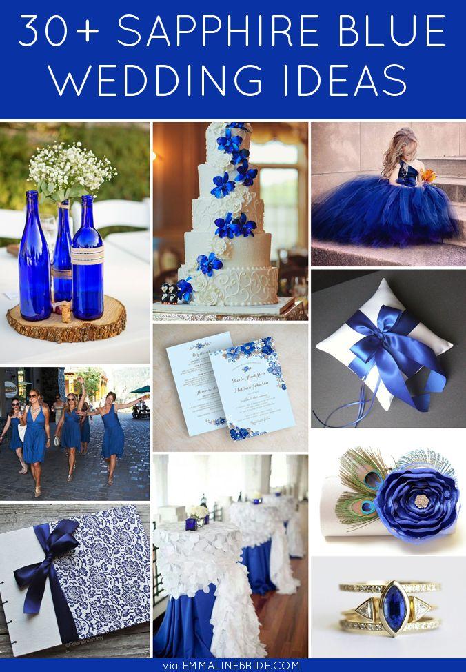 30+ Gorgeous Sapphire Blue Wedding Ideas | http://emmalinebride.com/color/sapphire-blue-wedding-ideas/