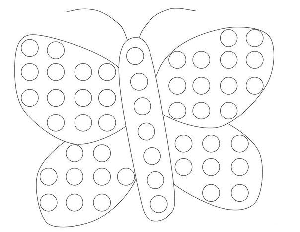 Bingo dauber art coloring page coloring pages for Dot art coloring pages