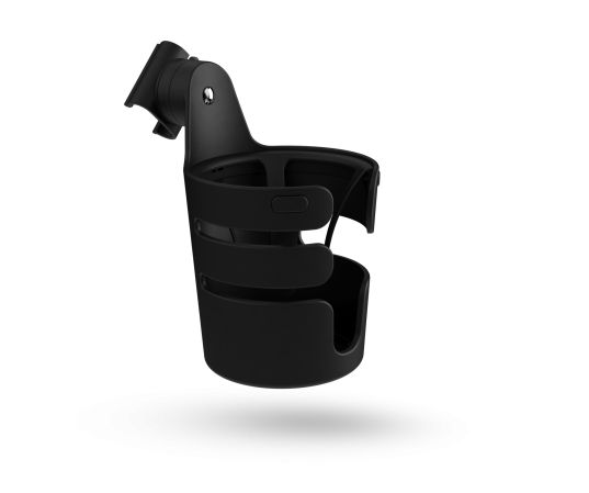 """BUGABOO CUP HOLDER -  """"easy access to drinks for parents and children. Perfect for a bottle, sippy cup or beverage of your own, The Bugaboo Cup holder attaches to the handlebar for easy access to any beverage up to 700ml/24oz. Keeps drinks upright to avoid spillages. Compatible with all Bugaboo strollers."""""""