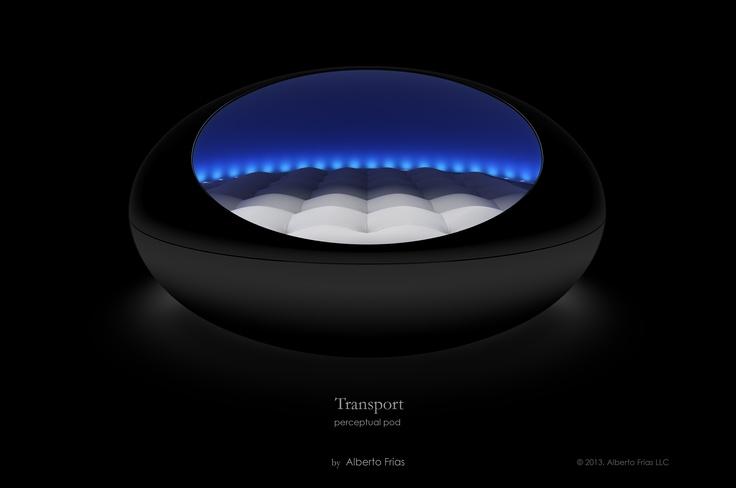 2013. black transport perceptual pod. the original pod bed
