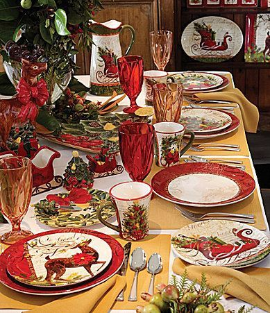 57 Beautiful Christmas Dinnerware Sets: Dillards Certified International Winter Garden Dinnerware