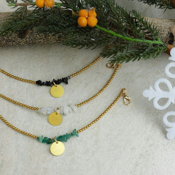 Brass gemstone bracelets make the perfect Christmas gift 🎄