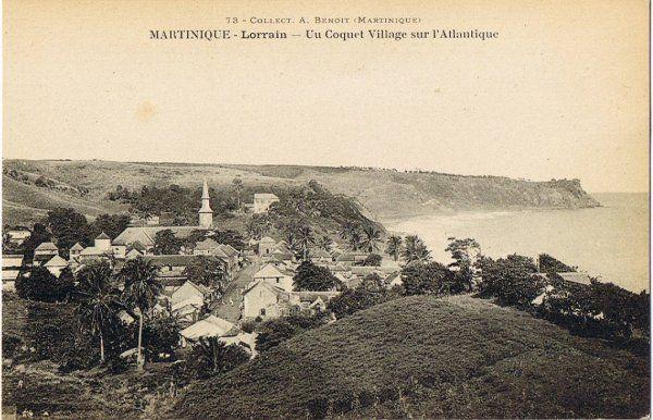 Le Lorrain coquet village sur l'Atlantique. Martinique