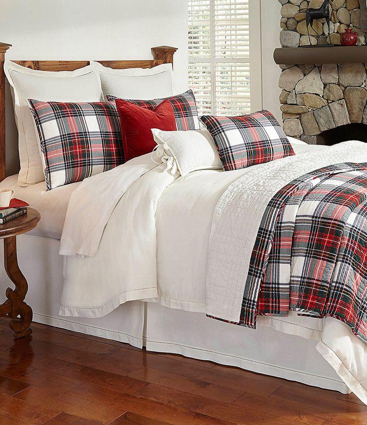 Tartan Plaid Quilt   Villa By Noble Excellence Cailin Quilt | Dillards.com