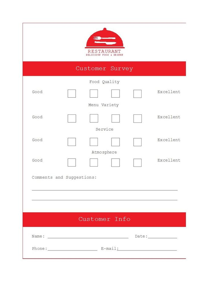 Printable Comment Card Feedback Form Templates ᐅ Template ...
