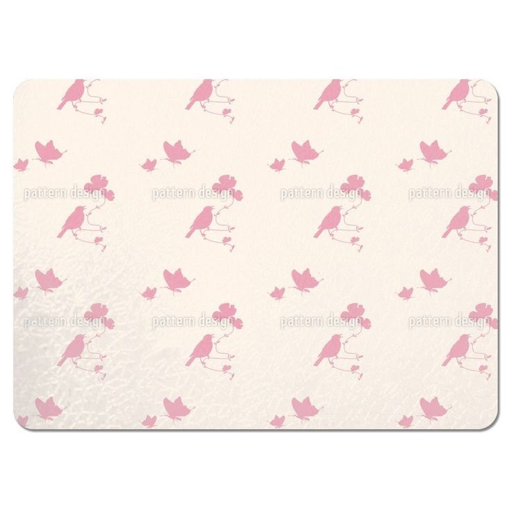 Uneekee Animals in Spring Pink Placemats (Set of 4) (Animals In Spring Pink Placemat) (Polyester)