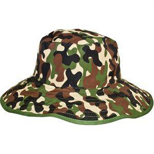Little Hunter Green Bucket Hat Reversible (Age 0-2) @ Picky Picky me .com
