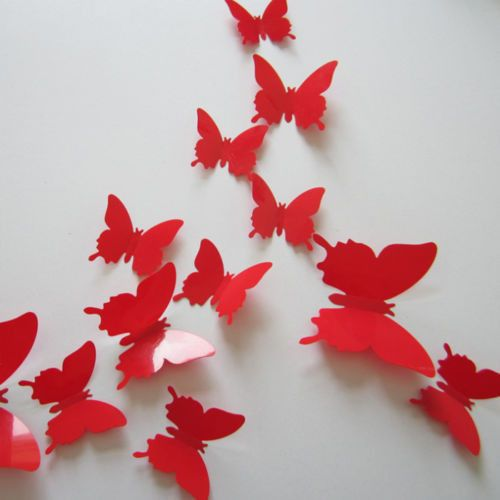 Perfect Wonderful 3D Butterfly Wall Stickers