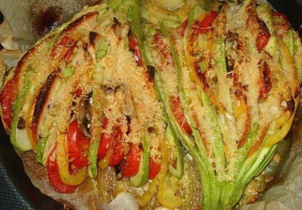Прекрасный легкий ужин — Кабачковый веер | NashaKuhnia.Ru
