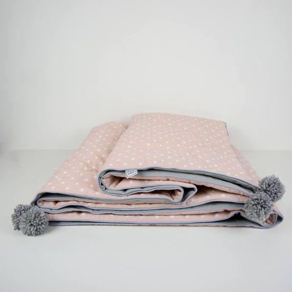 BED COVER pom poms comforter toddler bedding Quilt Comforter playmat quilt Quilt for girls quilt for sale Gift for Teens Blanket for Girls