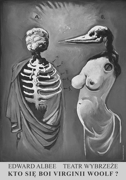 Who Afraid of Wirginia Woolf Kto sie boi Virginii Woolf? Starowieyski Franciszek Polish Poster