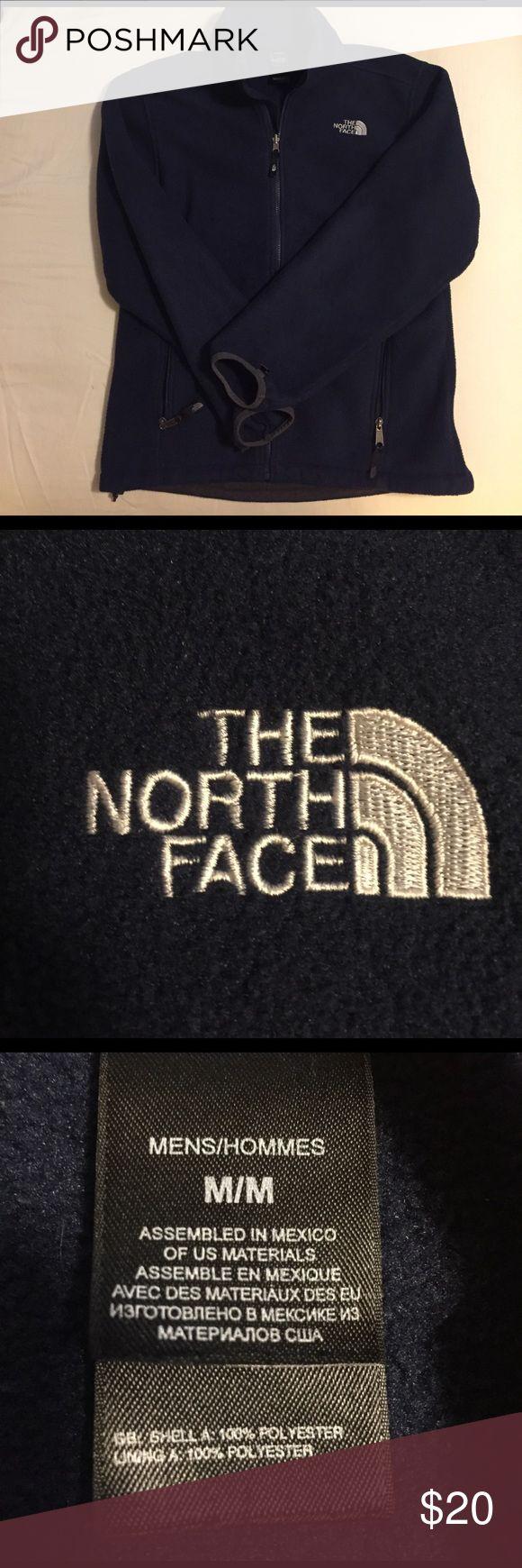 Men's North Face Full-Zip Fleece Jacket Navy Blue Men's North Face Full Zip Jacket. Size Men's Medium The North Face Jackets & Coats Lightweight & Shirt Jackets
