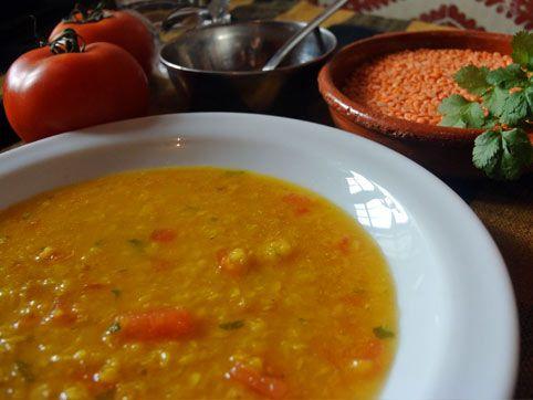 Massor Dal - sopa india de lentejas rojas