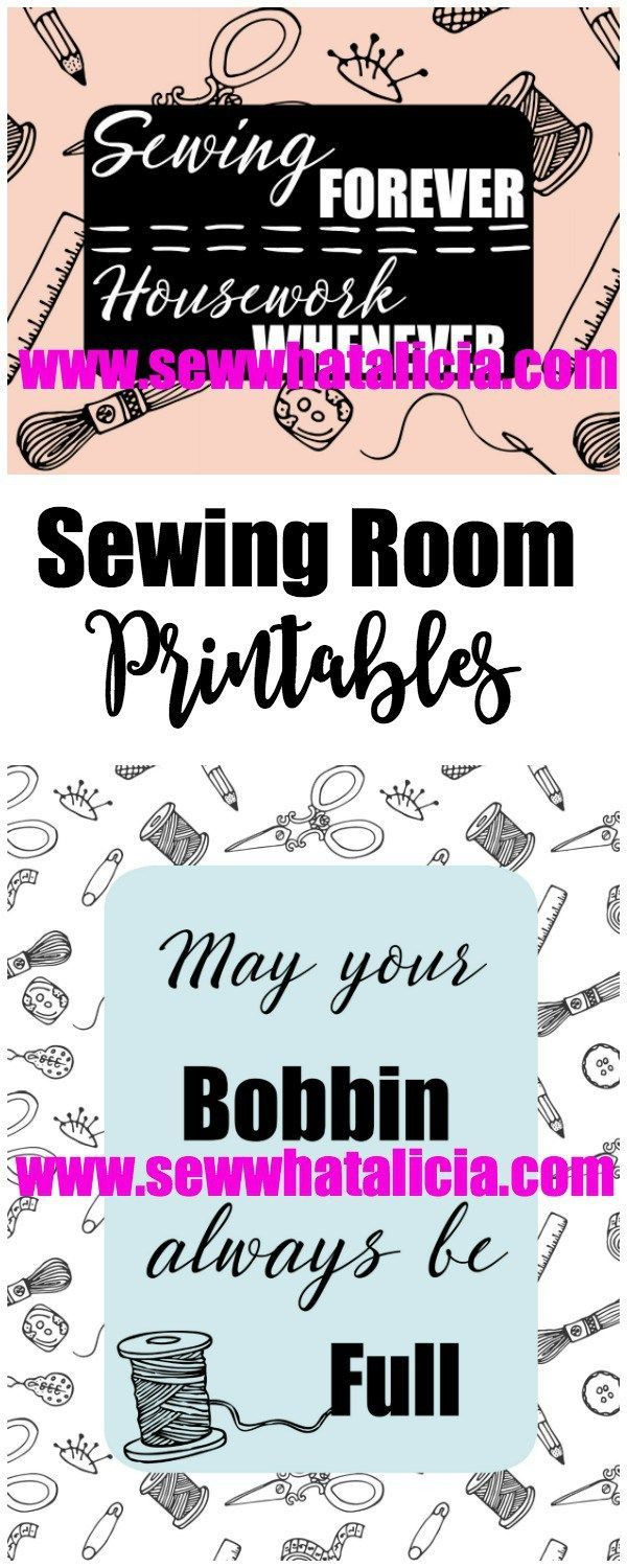 Sewing Room Printables | Are you looking for some awesome printables for your sewing room? Click through for these free printables! www.sewwhatalicia.com