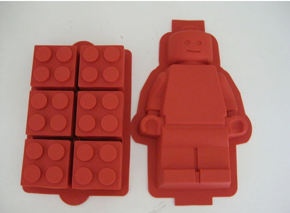 Silicone Lego Minifigure cake & brick