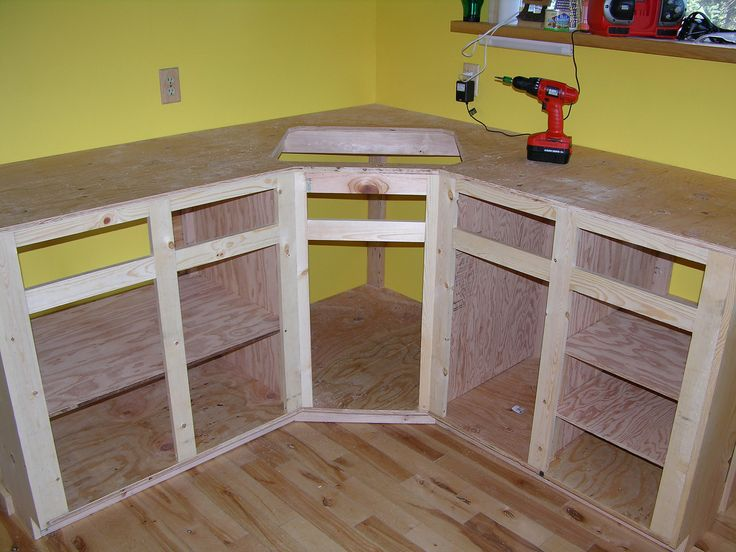 How to build kitchen cabinet frame kitchen reno for Building kitchen cabinets in place