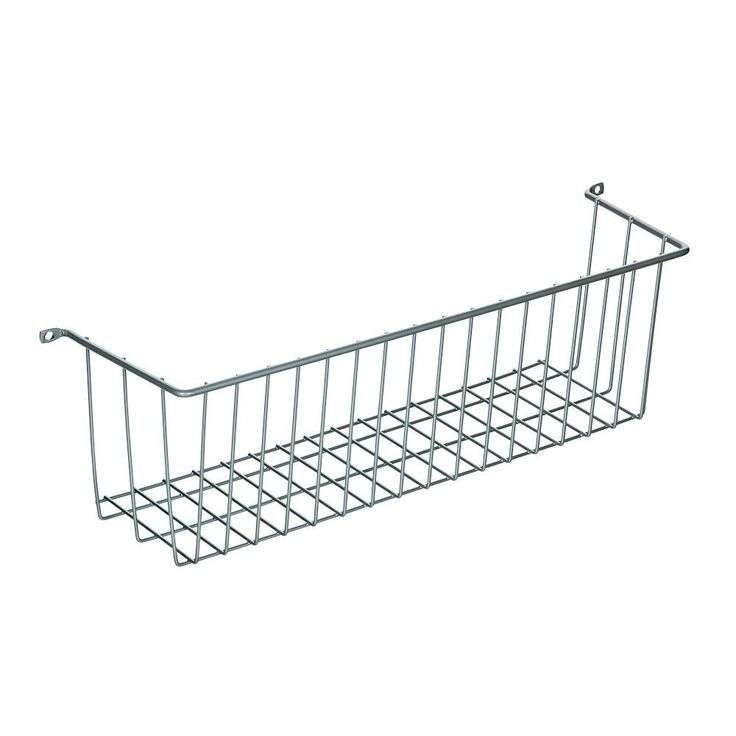 Ltl Home Products More Inside Medium 3 Sided Wall Mount Wire Basket