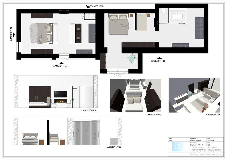 Project finca Ibiza , slaapkamers definitief - EYE INTERIOR DESIGN