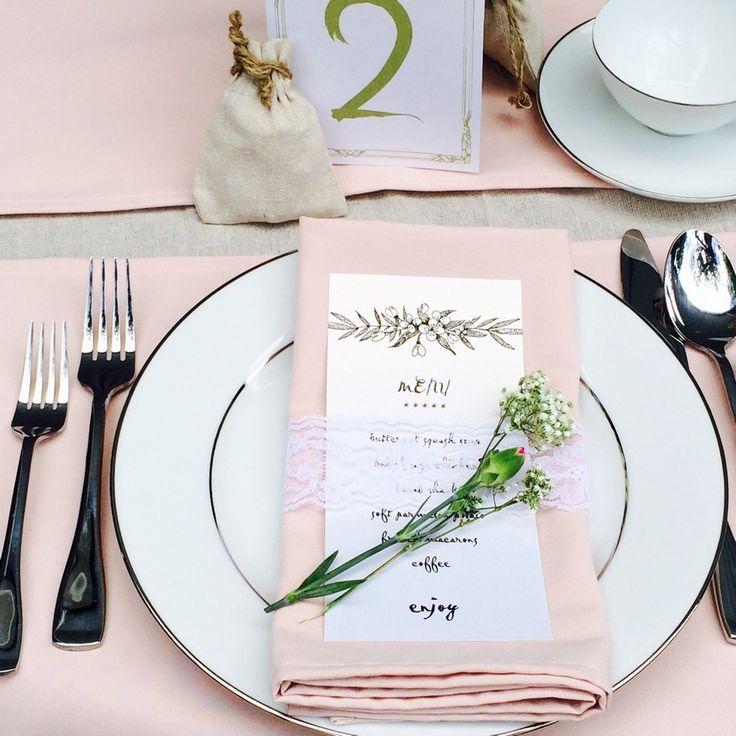 Cloth Napkins For Wedding Reception