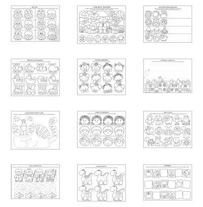 Fichas para trabajar la atención. Material para trabajar la atención para imprimir gratis para niños
