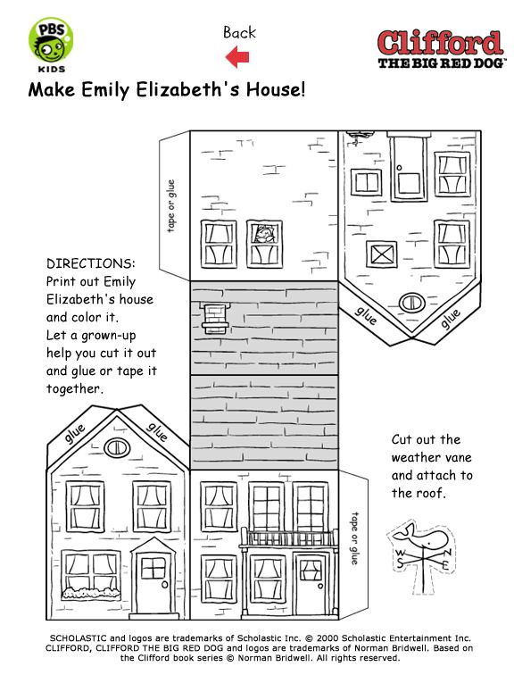 printable house template for kids - Etame.mibawa.co