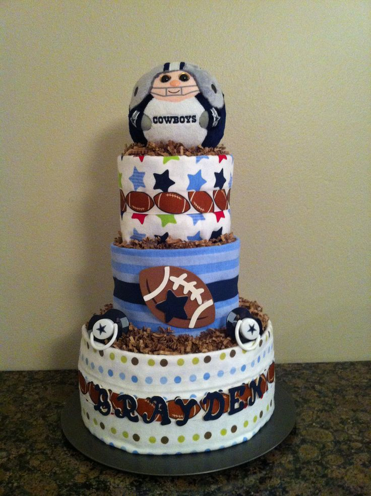 dallas cowboys baby diaper cake baby gz baby shower cakes baby