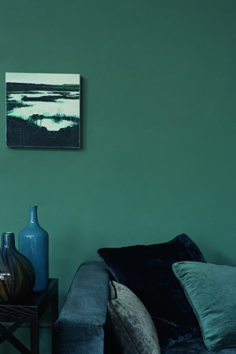 interior details - lounge - zoffany teal