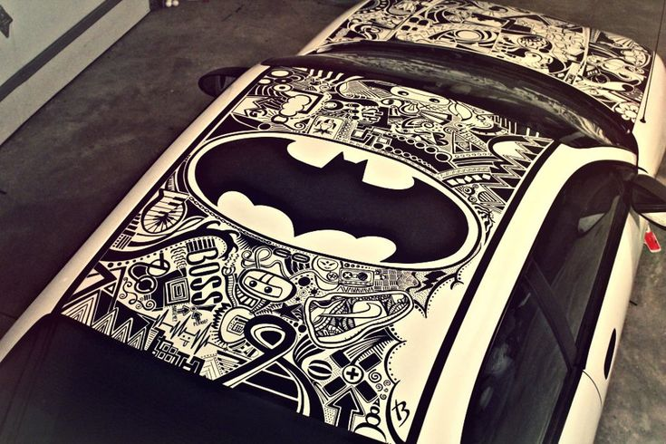 This is my friend's car, done completely in Sharpie. /  Do you know how I got these cars?