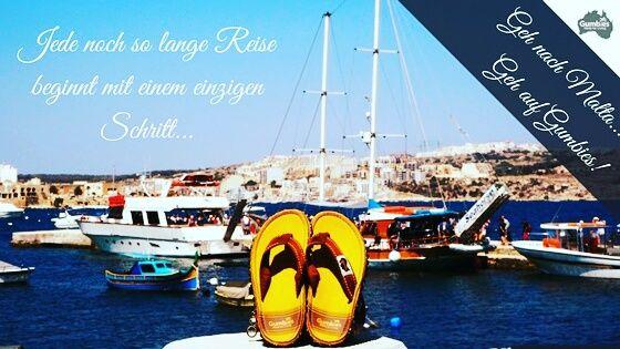 Unsere Gumbies sind auf #Malta! Warum unsere #Strandsandalen eigentlich sogar nicht auf die Insel passen, erfährst du jetzt in unserem #Gumbies Blog. Geh nach Malta... Geh auf Gumbies! #responsibilityunderyourfeet ♥