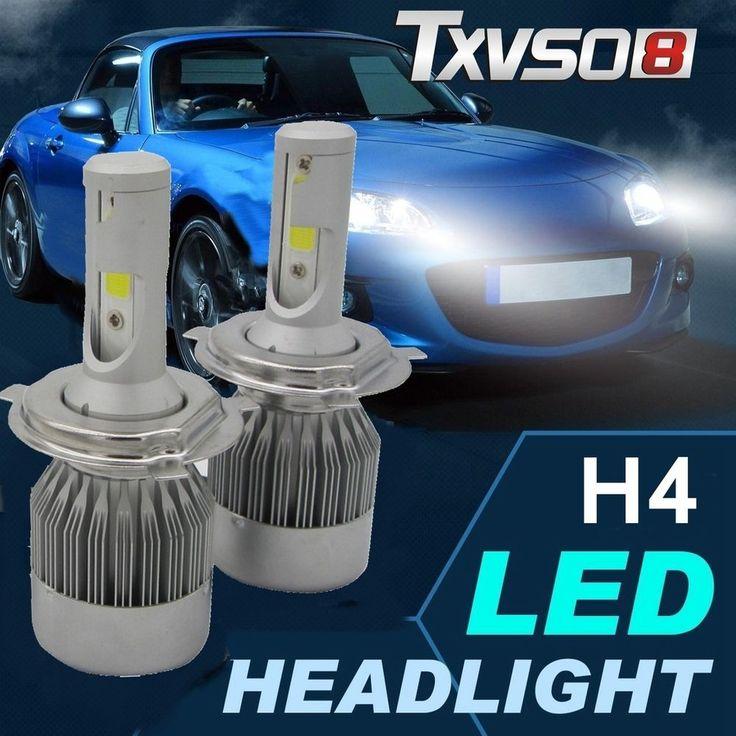 2x CREE H4 Hi/Lo 9003 HB2 20000LM LED Car Headlight Kit Double Beam Bulbs