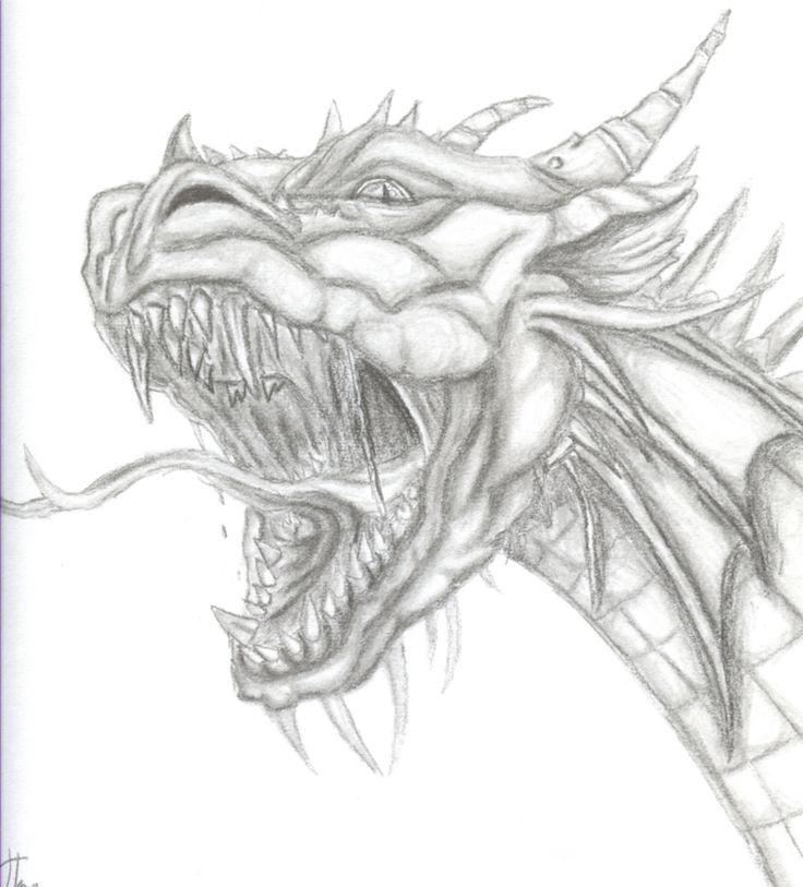 roaring dragon by jenj traditional art drawings fantasy 2003 2012 jenj arts stylendesigns