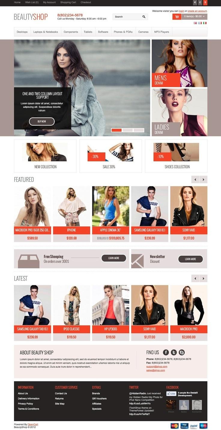 BeautyShop - Premium OpenCart theme #opencart #ecommerce #template