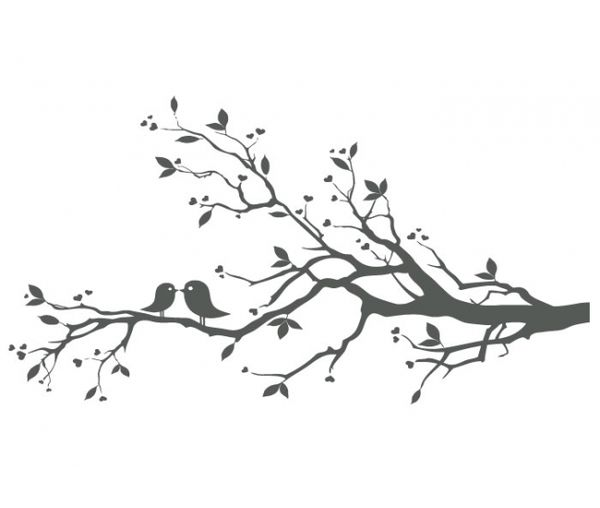 Love Birds On Branch X image - vector clip art online, royalty ... - ClipArt Best - ClipArt Best