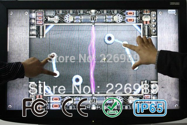 "6 points 32"" Infrared Touch Screen frame, 16:9 format for multi touch overlay touch frame US $251.10 /piece To Buy Or See Another Product Click On This Link  http://goo.gl/EuGwiH"