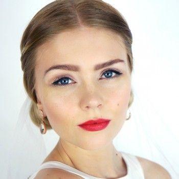 wedding makeup, grace kelly, bride makeup, e.l.f. cosmetics, makeup, red lips, brudemakeup, bryllupsmakeup