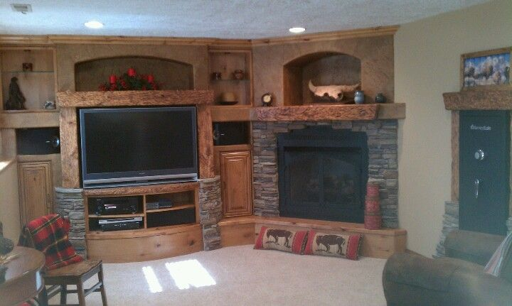 Cool Rustic Entertainment Center Mantel Great Cabinet