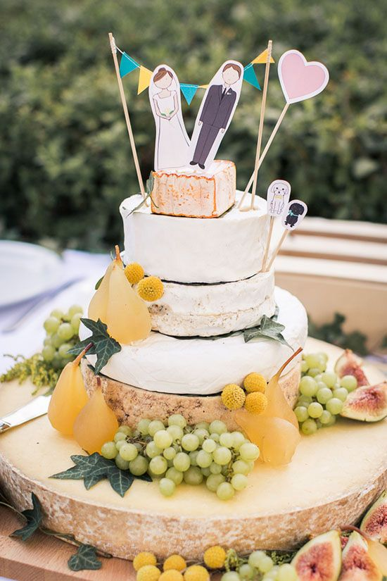 Laura and John's Elegant Circus Inspired Wedding. Wedding cake made of cheese by The Black Truffle!