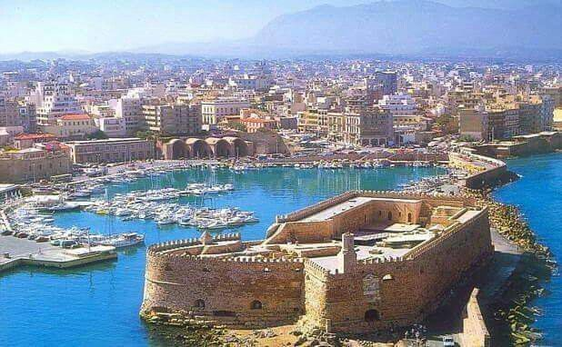 Koules fortres, old harbour, Heraklion, Crete, Greece
