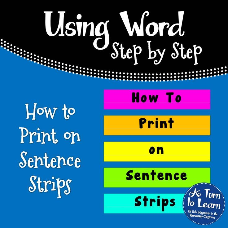 How to print on sentence strips! I have to say, ever since I figured out how to do this, I have not written on a sentence strip since! Step by step direction with picture and template included!