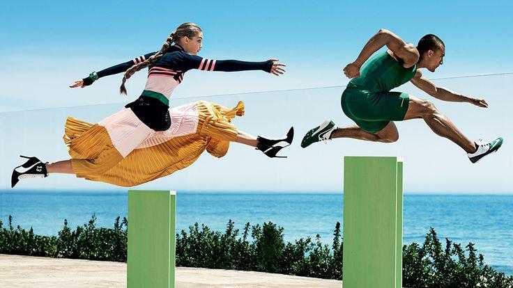 supermodel gigi hadid   Gigi Hadid and Olympian Ashton Eaton Cover Vogue's August 2016 Issue ...